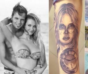 foto: Fabián Assmann se tatuó a Melina Pitra