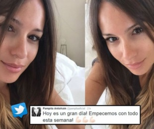 foto: Pampita, sus selfies sin maquillaje ¡a las 7 de la mañana!