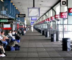 foto: UTA lanzó paro de micros y bloquea Retiro para pedir seguridad