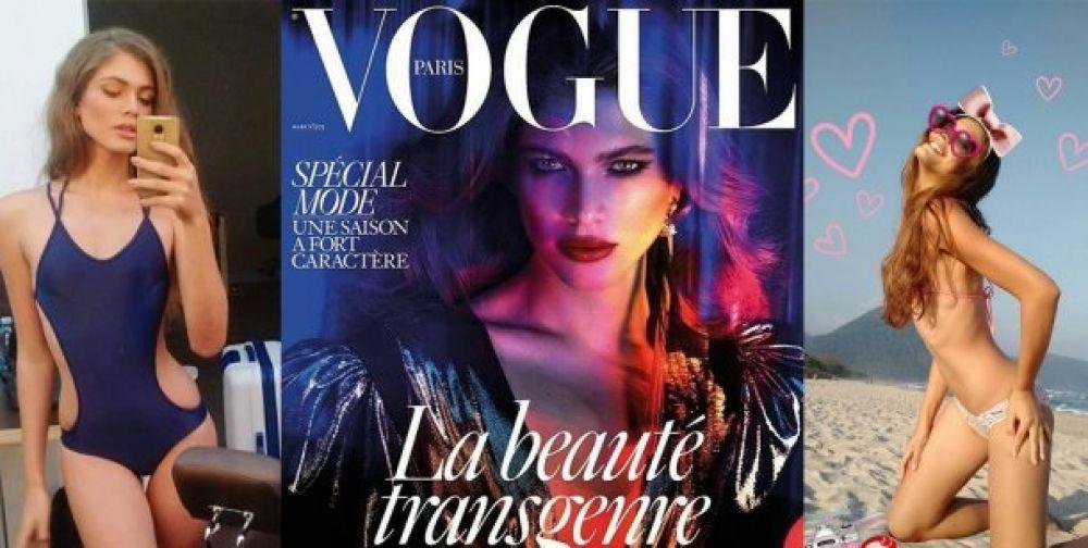 foto: Valentina Sampaio, la primera modelo transexual en la tapa de Vogue