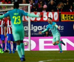foto: Messi marcó sobre la hora y Barcelona venció al Atlético