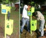 foto: Instalan expendedores de bolsas para excrementos