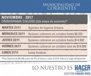 foto: Municipio paga desde mañana segunda etapa de subas salariales