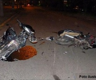 foto: Un hombre murió tras fuerte choque entre dos motocicletas