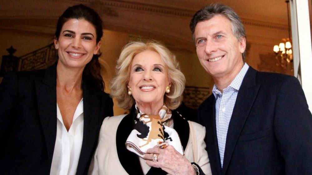 foto: Invitada por Juliana Awada, Mirtha almorzó con Mauricio Macri