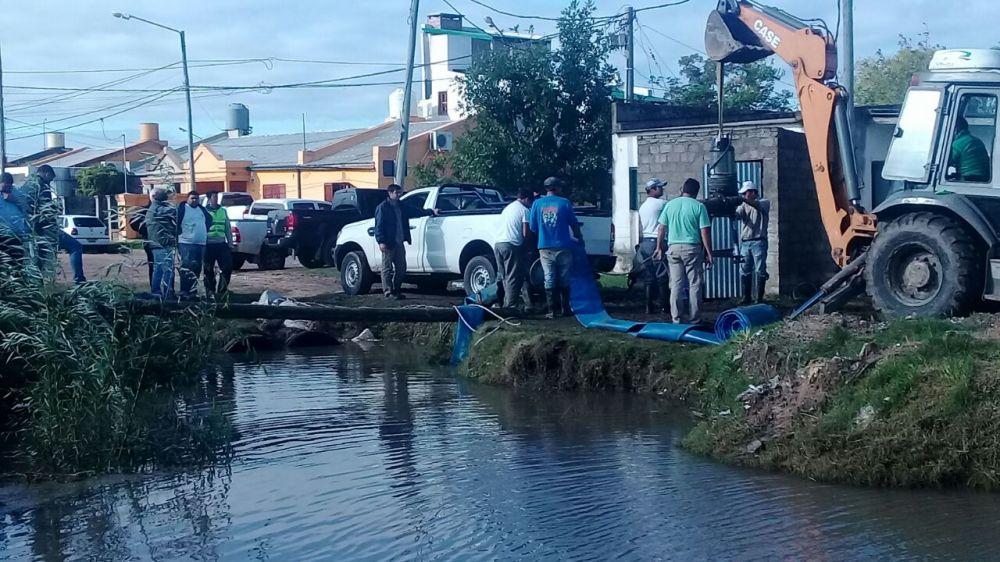foto: Intenso trabajo del PRODEGO en barrios el chacal y laguna bosco