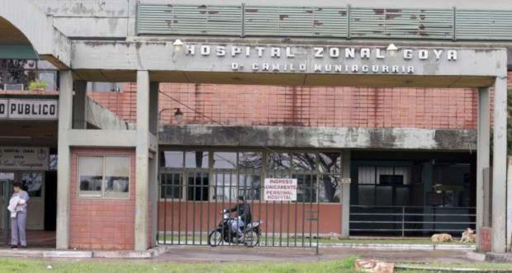 foto: Destrozaron baños del hospital de Goya a 24 horas de su inauguración