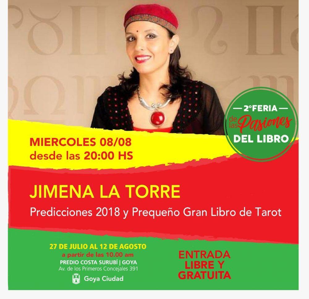 foto: Jimena La Torre presenta su libro Predicciones 2018
