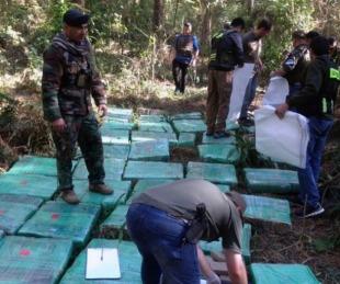 foto: Secuestran 7500 kilos de marihuana en la selva misionera