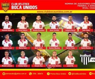 foto: Boca Unidos debuta esta tarde de visitante ante Chaco For Ever