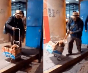 foto: Abuelo enternece las redes por gesto de amor a su mascota