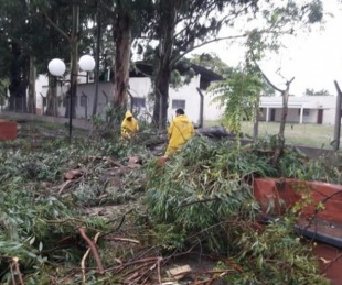 foto: Temporal ocasionó destrozos en Mburucuyá, Goya y Mercedes