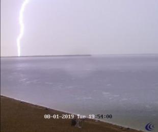 foto: Imágenes: así se vió la tormenta a través de las cámaras de Sise