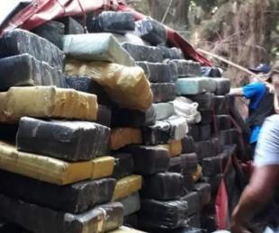 foto: Desbaratan cargamento de 10 mil kilos de marihuana en Ituzaingó