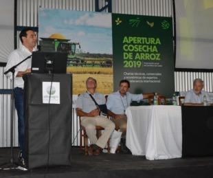 foto: Valdés instó a productores a industrializar la actividad arrocera