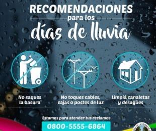 foto: Recomendaciones a los vecinos ante las intensas lluvias