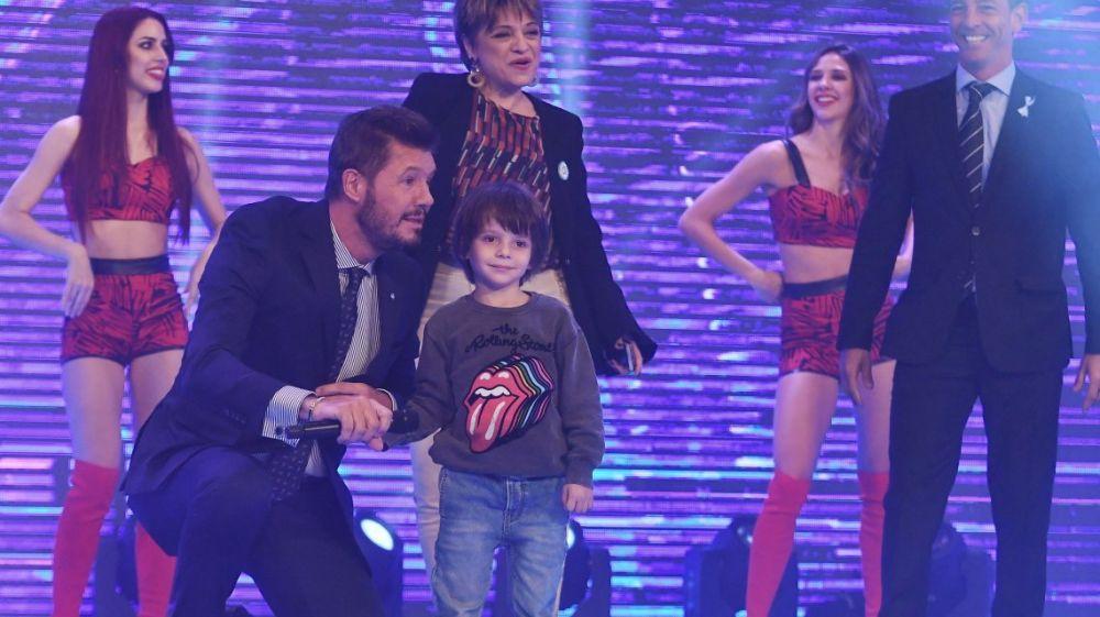 foto: Lorenzo, el hijo menor de Tinelli, apareció por primera vez en TV