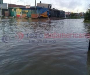 foto: La intensa lluvia caída dejó varias zonas anegadas en Capital