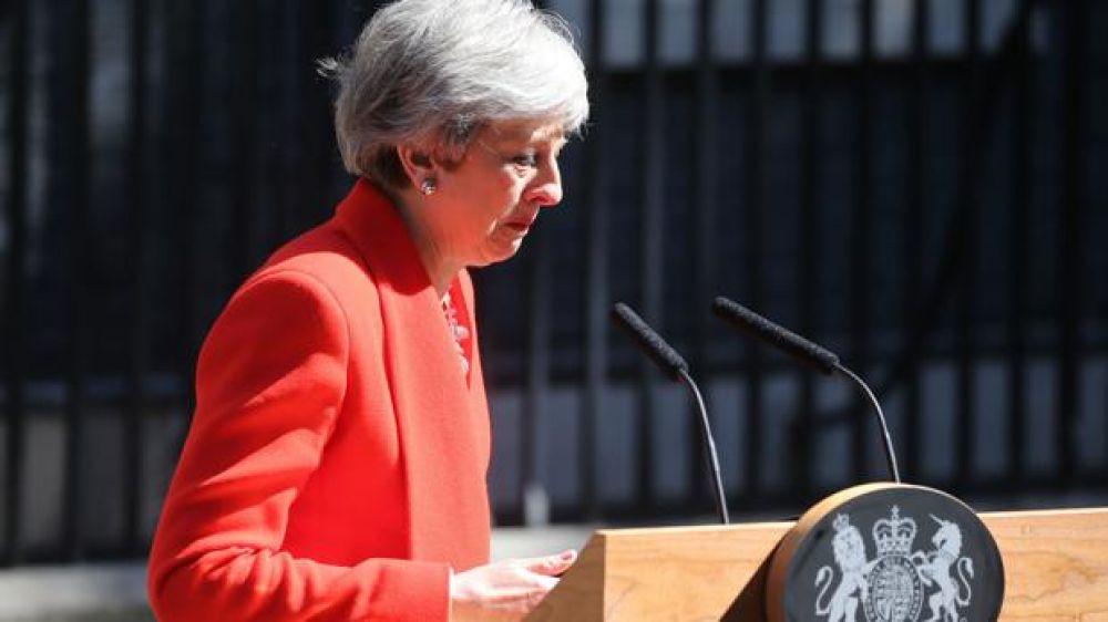 foto: La primera ministra británica Theresa May presentó su renuncia