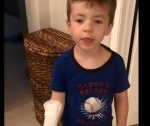 foto: Nene confundió una toallita femenina con una