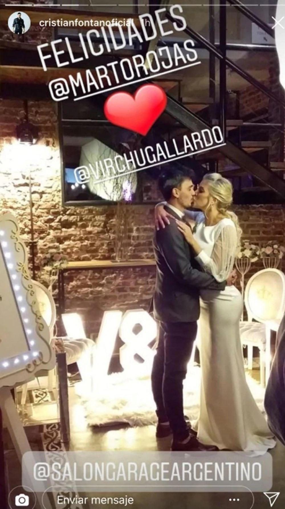 foto: La correntina Virginia Gallardo se casó por civil con Martín Rojas