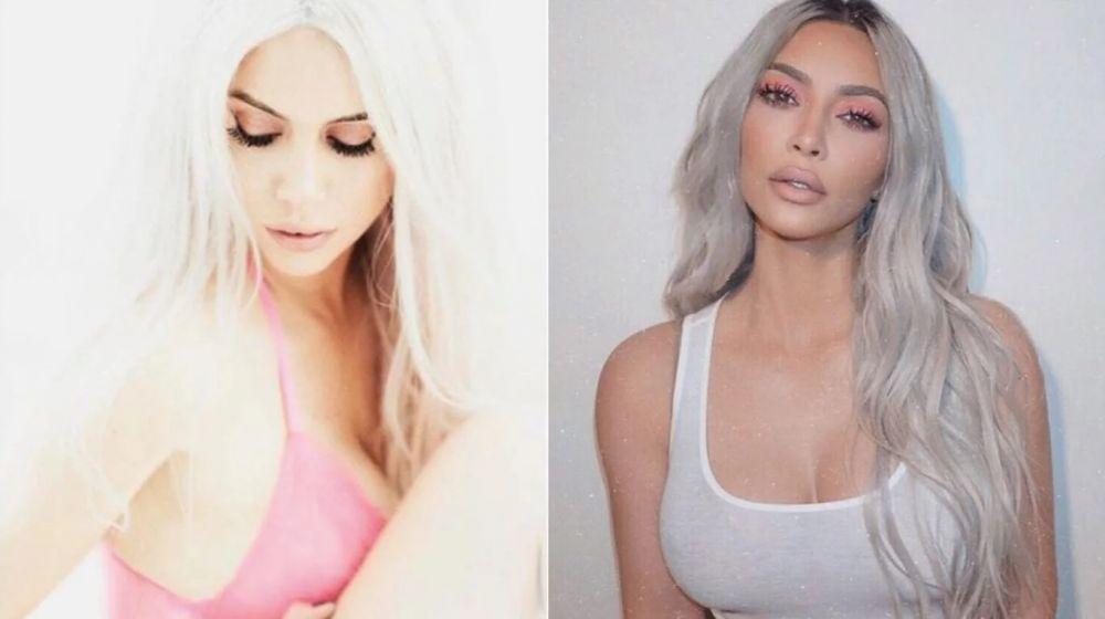 foto: ¿Wanda Nara se inspiró en Kim Kardashian para su look platinado?