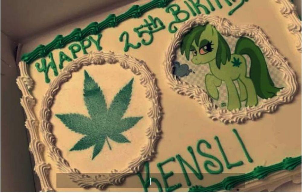 foto: Le hicieron una torta de marihuana para el cumple de su hijo