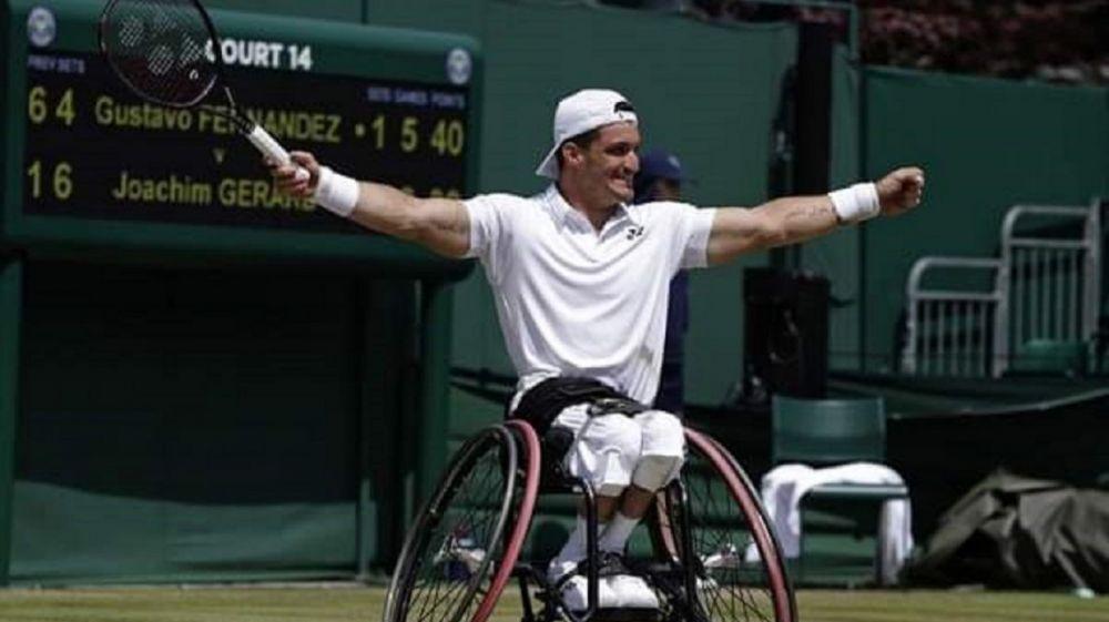 foto: Un argentino campeón en Wimbledon de tenis adaptado