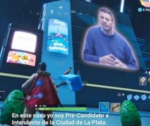 foto: Candidato platense se metió en el Fortnite para captar el voto joven