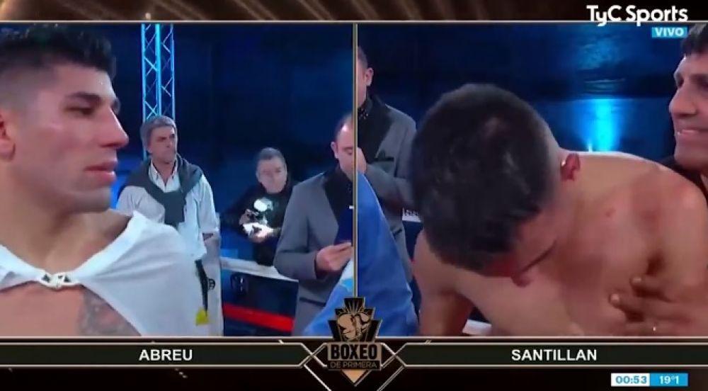 foto: Un boxeador argentino se desmayó mientras escuchaba el fallo