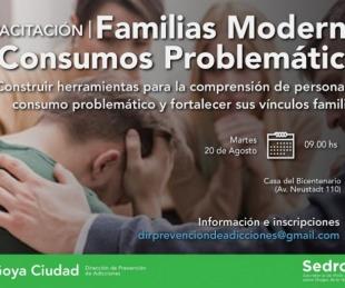 foto: Capacitación sobre familias modernas y consumos problemáticos