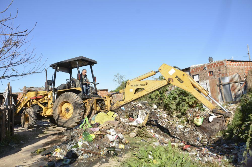 foto: Plan Hídrico: Tassano supervisó limpieza de canales