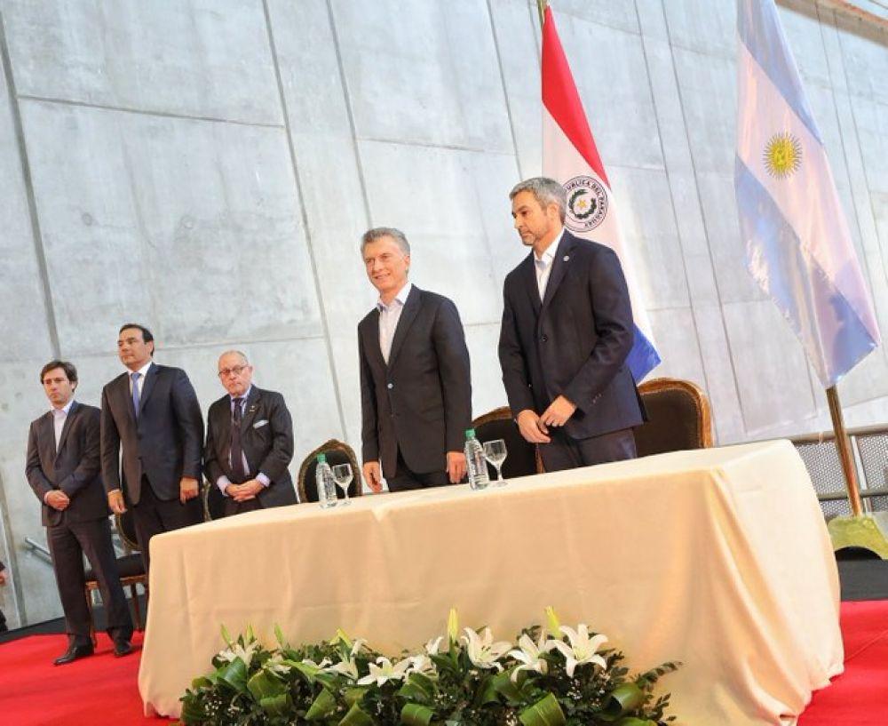 foto: Valdés, Macri y Abdo inauguraron el paso fronterizo Yacyretá