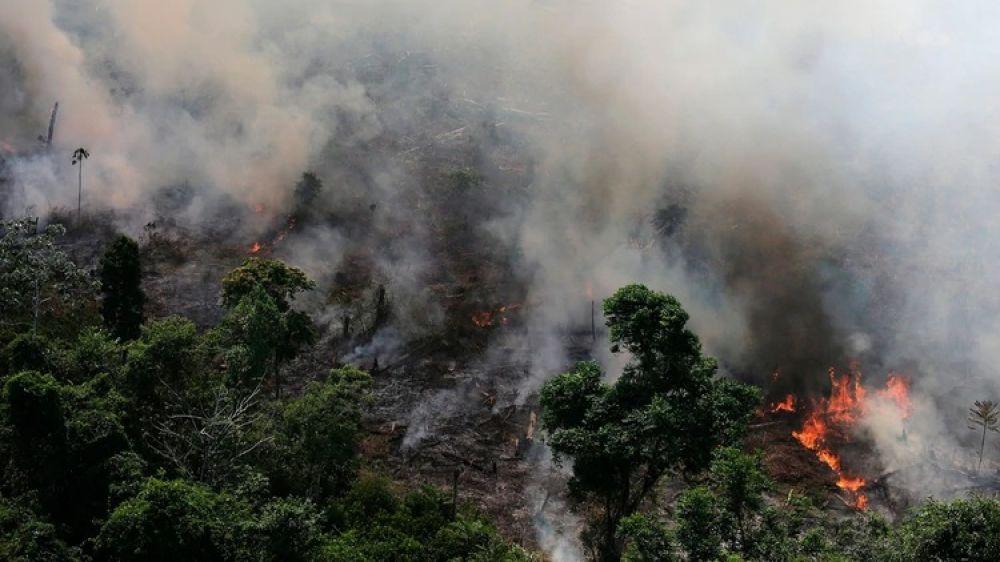 foto: El humo del Amazonas llegó a la Argentina y alcanzaría a Corrientes