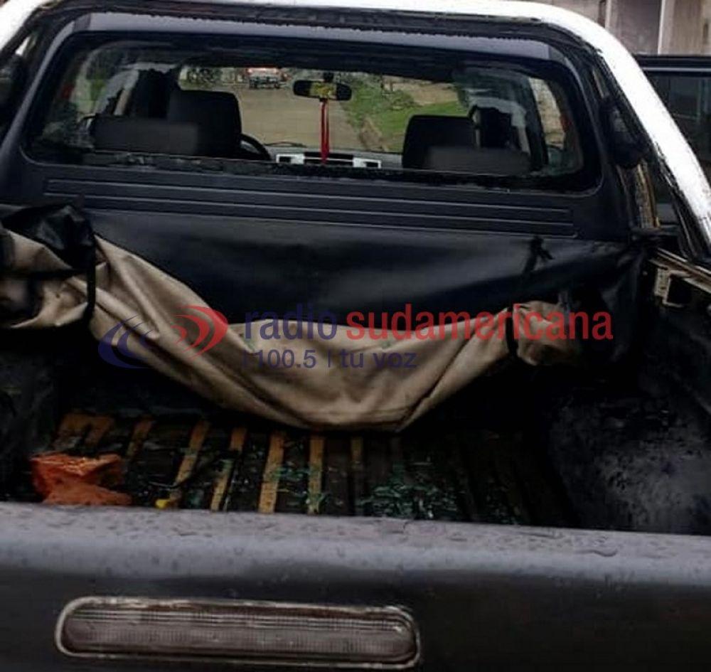 foto: Atacaron a piedrazos la camioneta de un diputado provincial
