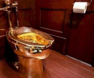 foto: Robaron un inodoro de oro valuado en 1.200.000 de dólares