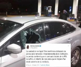 foto: Patricia Bullrich echó al jefe de la policía que denunció un ataque
