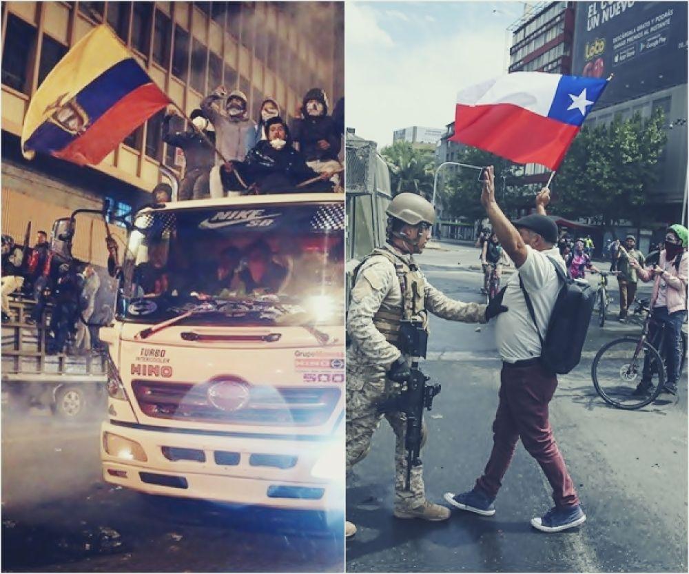 foto: Protestas en Chile y Ecuador: ¿en qué se parecen?