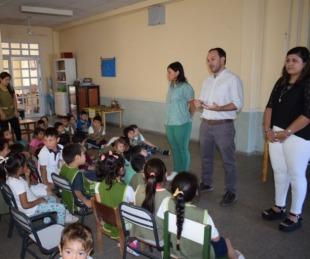 foto: Goya saludable llegó al JIN de la escuela 440
