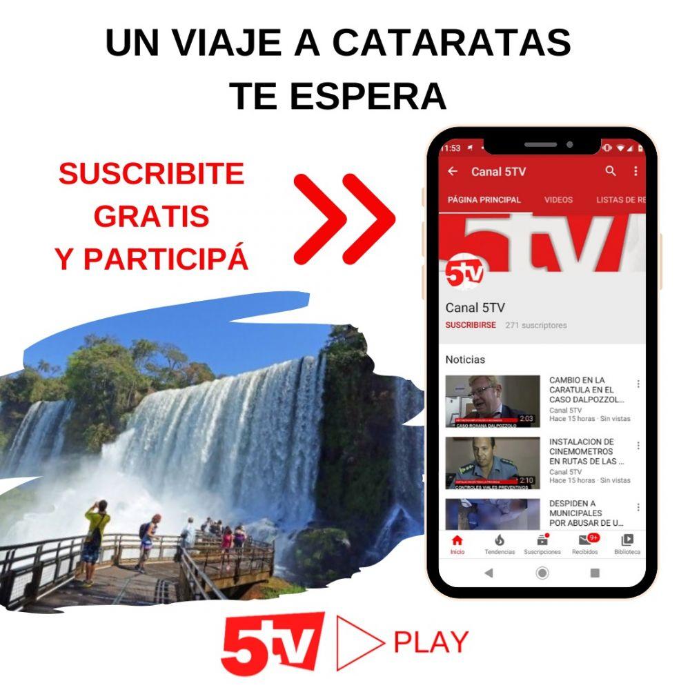 foto: Ganate un viaje a las Cataratas suscribiéndote a 5tv en youtube