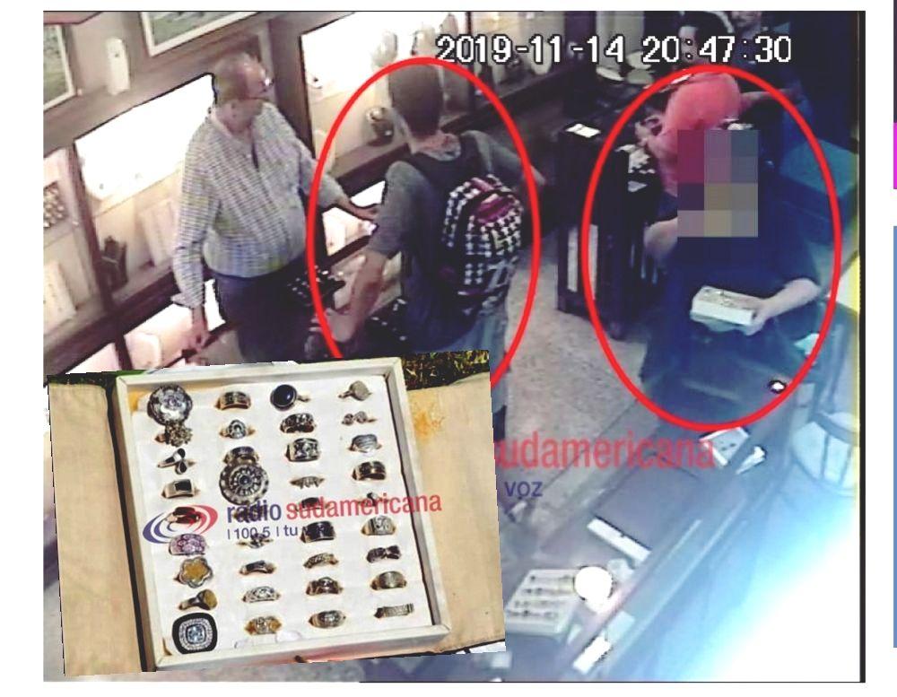 foto: Trabajan en la identificación de los ladrones de la joyería