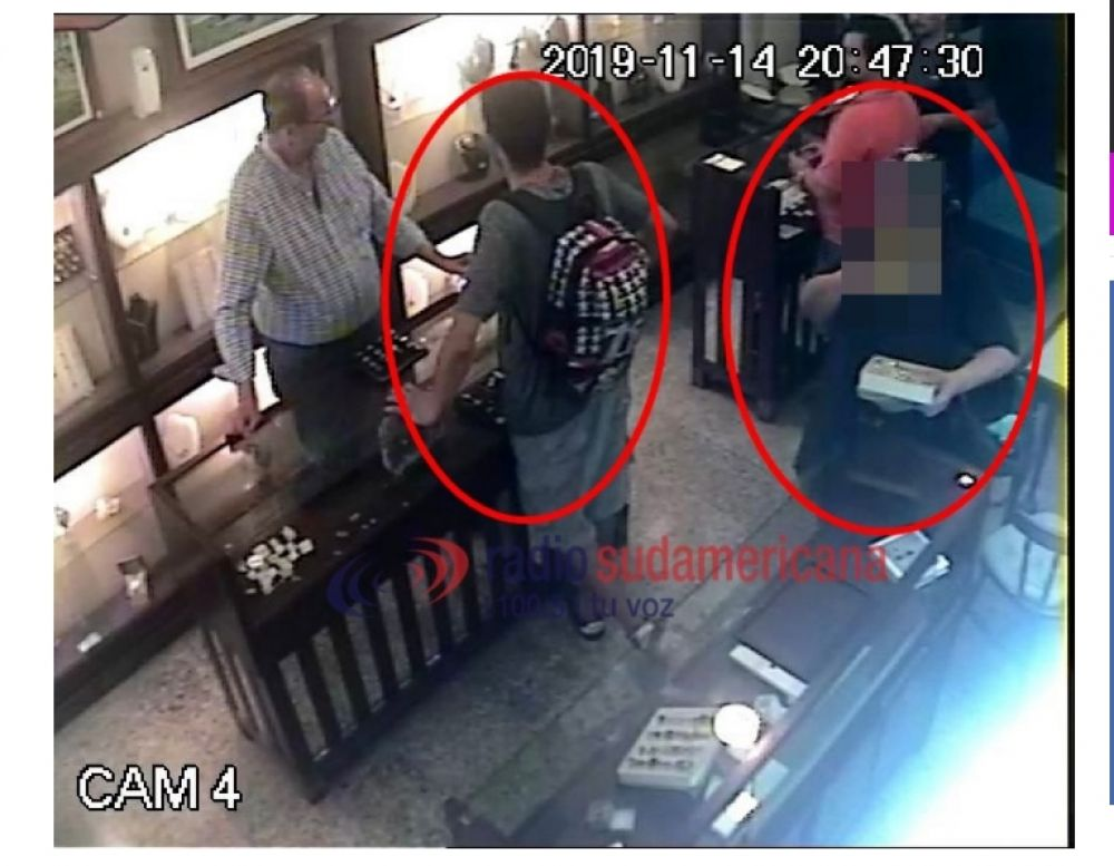 foto: La policía recuperó los 36 anillos robados en Joyería Fuentes