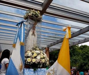 Emoción: así fue la llegada de la Virgen de Fátima a Corrientes