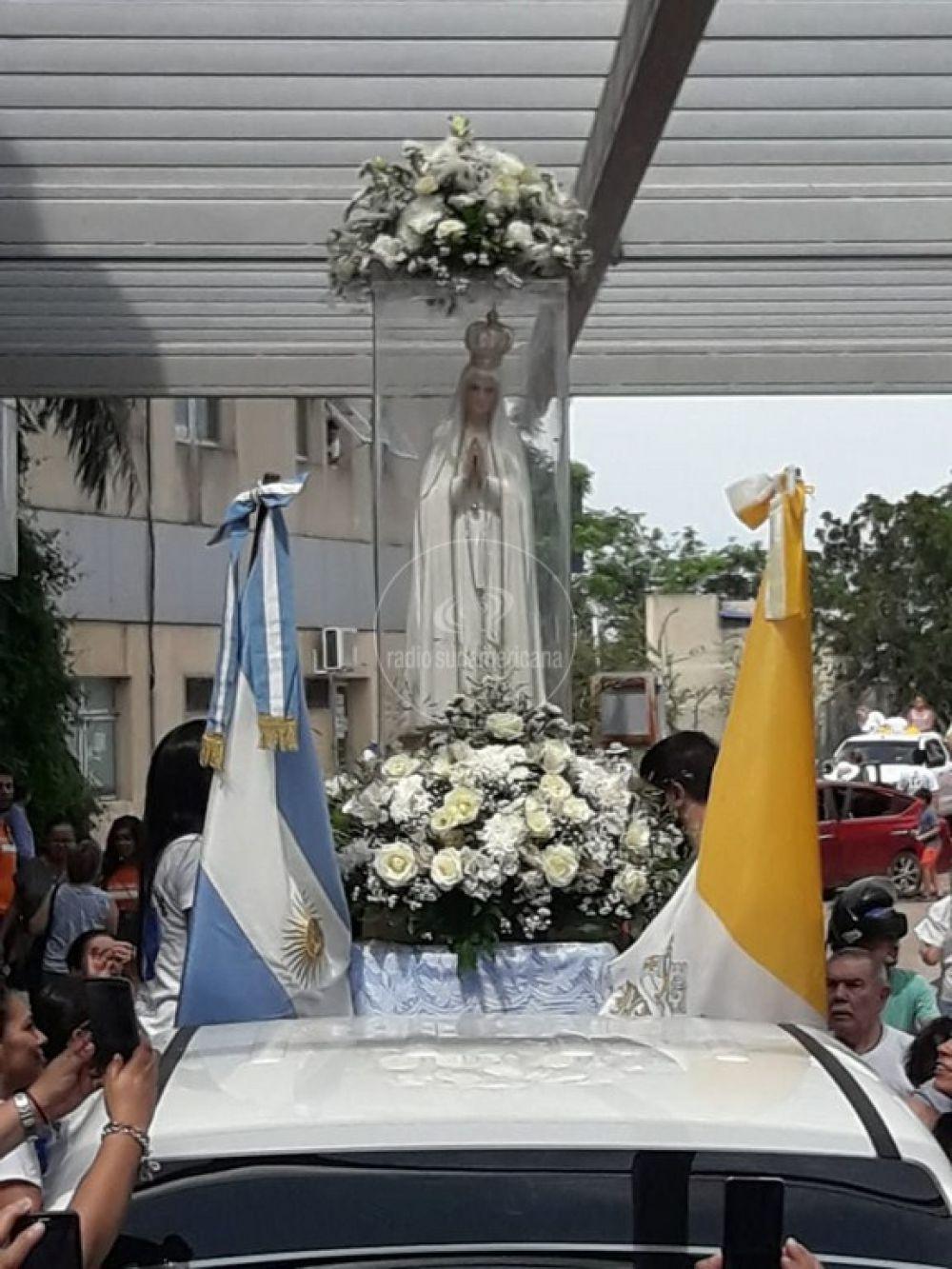 foto: La llegada de la Virgen Peregrina de Fátima a Corrientes en imágenes