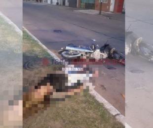 foto: La encontraron inconsciente junto a su moto en plena avenida