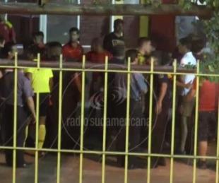 foto: Escándalo y pelea en cancha de Boca Unidos tras ganarle a Güemes
