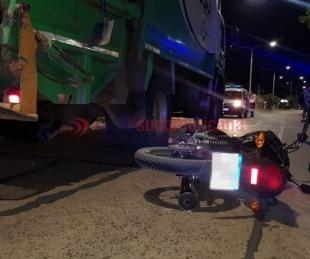 foto: Motociclista alcoholizado atropelló a un recolector de residuos