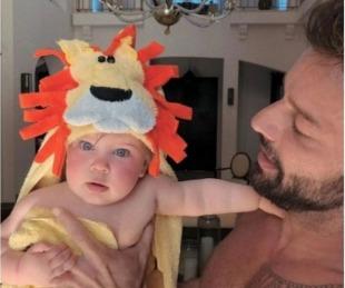 foto: Ricky Martin compartió una foto súper tierna de Lucía, su beba