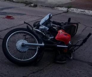 foto: Goya: Murió un motociclista tras caer a la cinta asfáltica