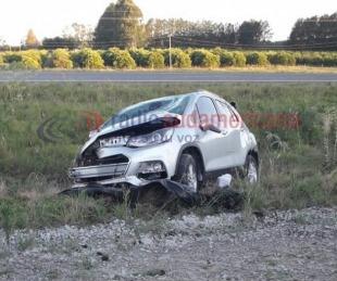 foto: Despistó un auto sobre la Ruta 14 y su conductor resultó ileso